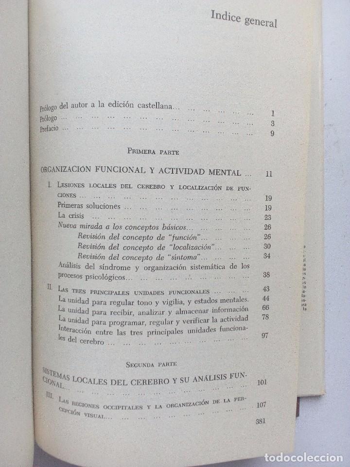 Libros de segunda mano: EL CEREBRO EN ACCION ALEKSANDER ROMANOVICH LURIA, ED. FONTANELLA 1974 Nº 21. CONDUCTA HUMANA - Foto 7 - 119863495