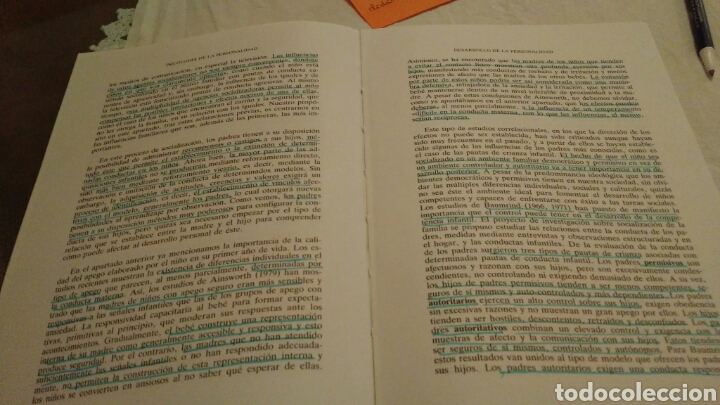 Libros de segunda mano: LIBRO: PSICOLOGÍA DE LA PERSONALIDAD - José Bermúdez Moreno - 1994 - Foto 6 - 115134975