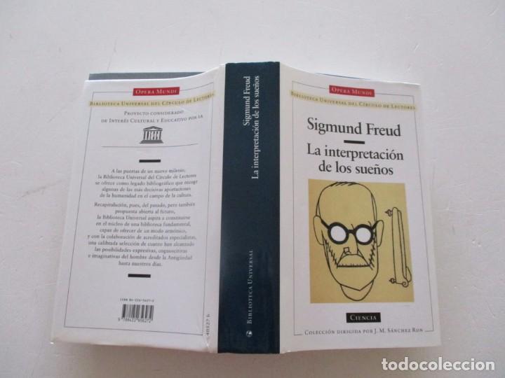 SIGMUND FREUD. LA INTERPRETACIÓN DE LOS SUEÑOS. RM82625. (Libros de Segunda Mano - Pensamiento - Psicología)