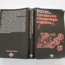 Libros de segunda mano: PETER H. LINDSAY, DONALD A. NORMAN. INTRODUCCIÓN A LA PSICOLOGÍA COGNITIVA. RMT82780. . Lote 96916627