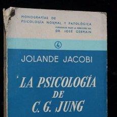 Libros de segunda mano: LA PSICOLOGIA DE C.G. JUNG - JOLANDE JACOBI. Lote 96992235