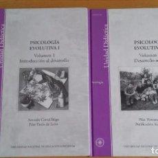Libros de segunda mano: PSICOLOGÍA EVOLUTIVA I, VOLUMEN 1 Y 2 CON SUS CORRESPONDIENTES GUÍAS DIDACTICAS. UNED. Lote 97054859