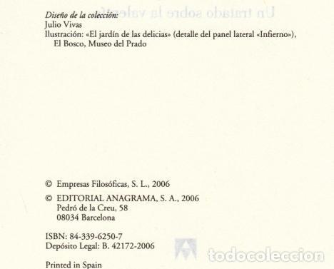 Libros de segunda mano: JOSÉ ANTONIO MARINA ANATOMÍA DEL MIEDO UN TRATADO SOBRE LA VALENTÍA ANAGRAMA 2006 1ª EDICIÓN RECORTE - Foto 3 - 97873967