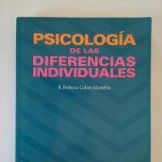 psicologia de las diferencias individuales roberto colom pdf gratis