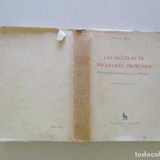 Libros de segunda mano: DIETER WYSS. LAS ESCUELAS DE PSICOLOGÍA PROFUNDA: DESDE LOS PRINCIPIOS HASTA LA ACTUALIDAD. RMT83675. Lote 100022847