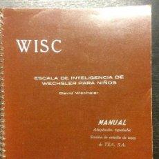 Libros de segunda mano: ESCALA DE INTELIGENCIA DE WECHSLER PARA NIÑOS. Lote 100162035