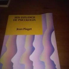 Libros de segunda mano: SEIS ESTUDIOS DE PSICOLOGÍA. JEAN PIAGET. EST21B2. Lote 101692119