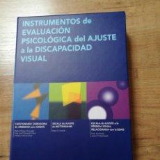Libros de segunda mano: INSTRUMENTOS DE EVALUACIÓN PSICOLÓGICA DEL AJUSTE A LA DISCAPACIDAD VISUAL. Lote 101737615