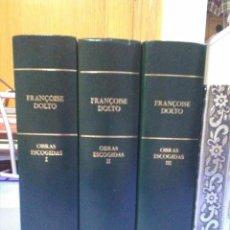 Libros de segunda mano: FRANÇOISE DOLTO OBRAS ESCOGIDAS RBA 2006 BIBLIOTECA DE PSICOANALISIS PSICOLOGIA FREUD BUEN ESTADO. Lote 101865827
