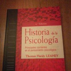 Libros de segunda mano: HISTORIA DE LA PSICOLOGÍA, PRINCIPALES CORRIENTES EN EL PENSAMIENTO PSICOLÓGICO. THOMAS HARDY. Lote 101928742