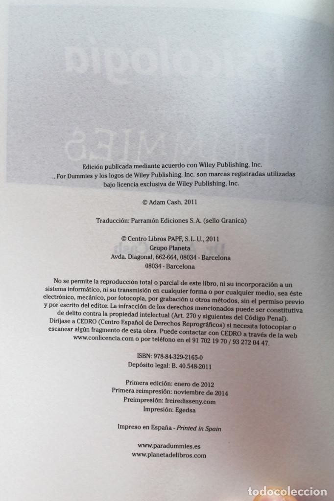 Libros de segunda mano: A.Cash - Psicología para dummies - Foto 2 - 102399435