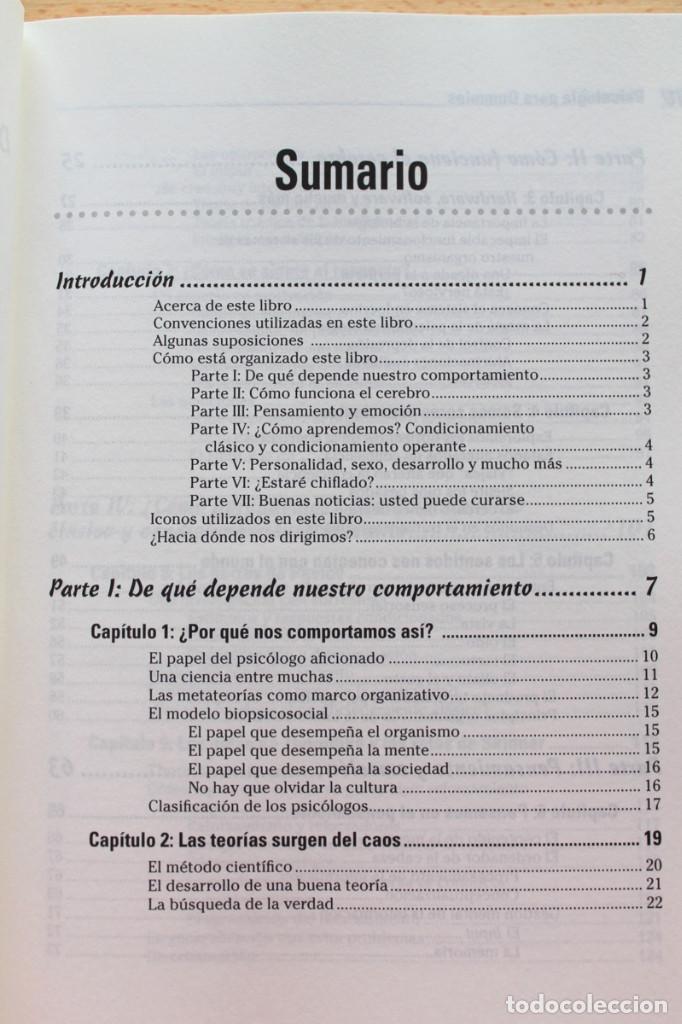 Libros de segunda mano: A.Cash - Psicología para dummies - Foto 3 - 102399435