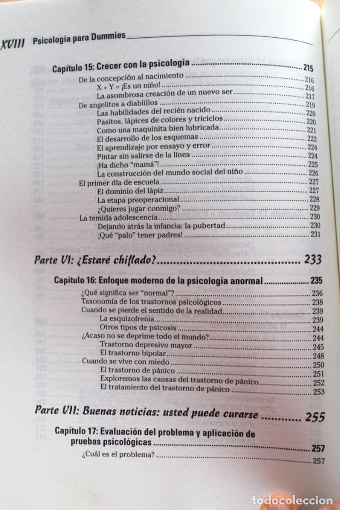 Libros de segunda mano: A.Cash - Psicología para dummies - Foto 8 - 102399435