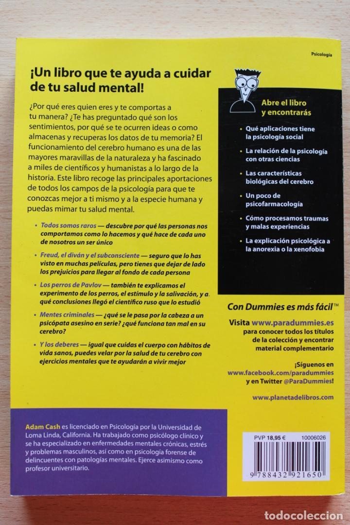 Libros de segunda mano: A.Cash - Psicología para dummies - Foto 11 - 102399435