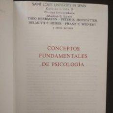Libros de segunda mano: CONCEPTOS FUNDAMENTALES DE PSICOLOGÍA. HERDER 1982. Lote 103693079