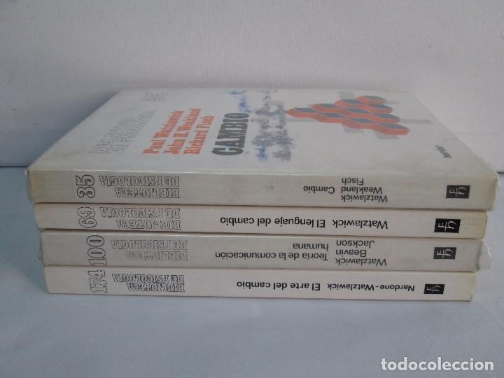 Libros de segunda mano: PAUL WATZLAWICK. BIBLIOTECA DE PSICOLOGIA. TOMO 35,69,100,174. EDITORIAL HERDER. VER FOTOGRAFIAS - Foto 2 - 103817435