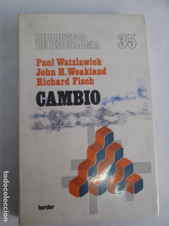 Libros de segunda mano: PAUL WATZLAWICK. BIBLIOTECA DE PSICOLOGIA. TOMO 35,69,100,174. EDITORIAL HERDER. VER FOTOGRAFIAS - Foto 6 - 103817435