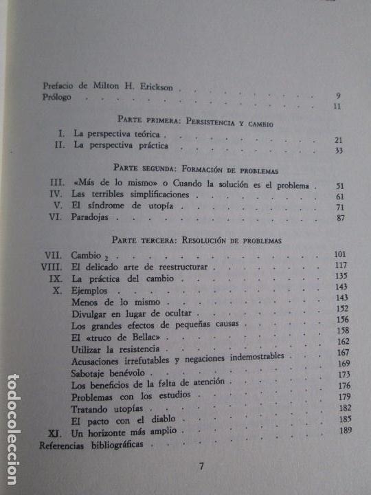 Libros de segunda mano: PAUL WATZLAWICK. BIBLIOTECA DE PSICOLOGIA. TOMO 35,69,100,174. EDITORIAL HERDER. VER FOTOGRAFIAS - Foto 10 - 103817435