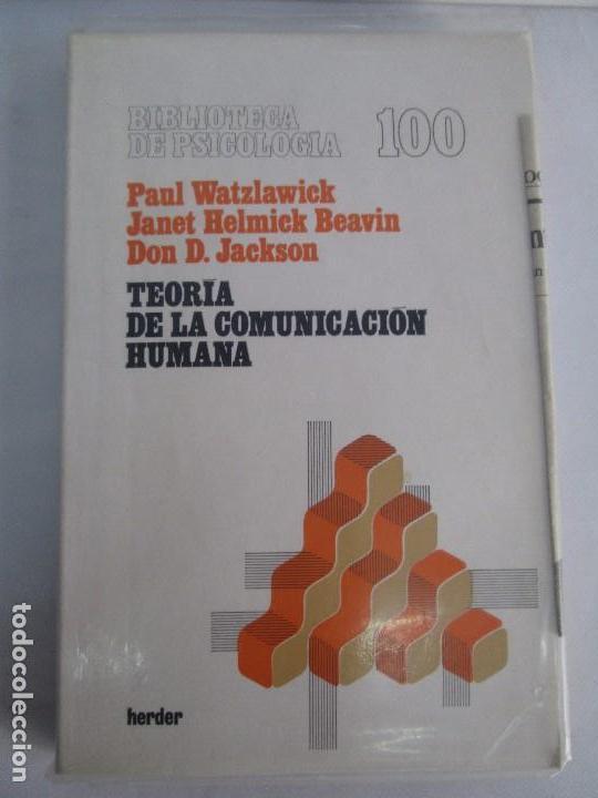Libros de segunda mano: PAUL WATZLAWICK. BIBLIOTECA DE PSICOLOGIA. TOMO 35,69,100,174. EDITORIAL HERDER. VER FOTOGRAFIAS - Foto 24 - 103817435