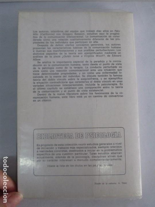 Libros de segunda mano: PAUL WATZLAWICK. BIBLIOTECA DE PSICOLOGIA. TOMO 35,69,100,174. EDITORIAL HERDER. VER FOTOGRAFIAS - Foto 33 - 103817435