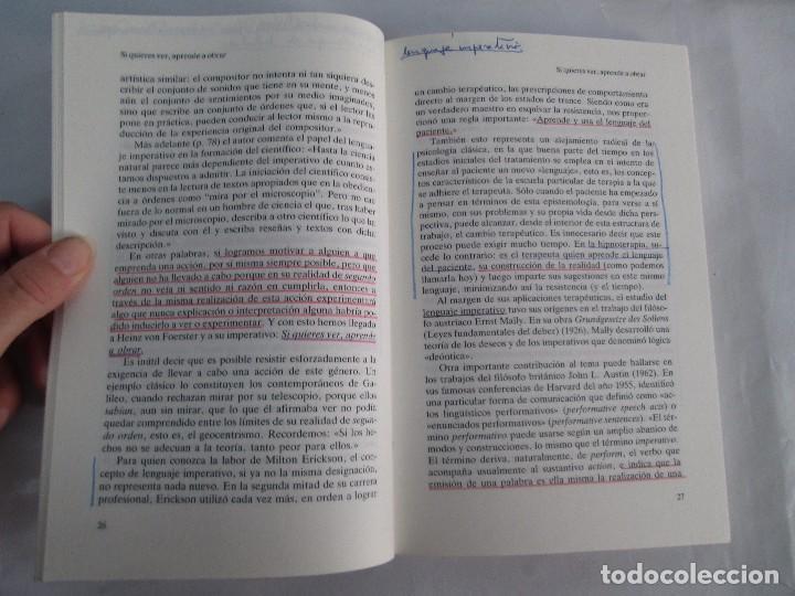 Libros de segunda mano: PAUL WATZLAWICK. BIBLIOTECA DE PSICOLOGIA. TOMO 35,69,100,174. EDITORIAL HERDER. VER FOTOGRAFIAS - Foto 40 - 103817435