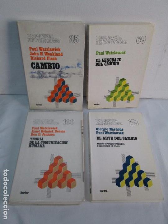 PAUL WATZLAWICK. BIBLIOTECA DE PSICOLOGIA. TOMO 35,69,100,174. EDITORIAL HERDER. VER FOTOGRAFIAS (Libros de Segunda Mano - Pensamiento - Psicología)