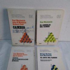 Libros de segunda mano: PAUL WATZLAWICK. BIBLIOTECA DE PSICOLOGIA. TOMO 35,69,100,174. EDITORIAL HERDER. VER FOTOGRAFIAS. Lote 103817435
