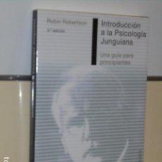 Libros de segunda mano: INTRODUCCION A LA PSICOLOGIA JUNGUIANA UNA GUIA PARA PRINCIPIANTES ROBIN ROBERTSON - OBELISCO -. Lote 104309935
