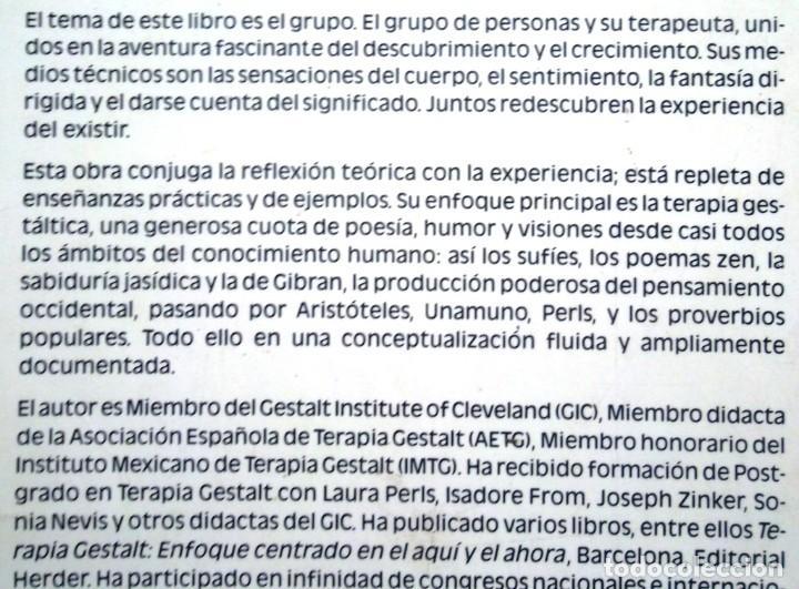 Libros de segunda mano: Grupos de encuentro en Terapia Gestalt Celedonio Castanedo 1990 Herder impecable - Foto 2 - 104892959