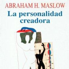 Libros de segunda mano: LA PERSONALIDAD CREADORA ABRAHAM H. MASLOW. Lote 104955611