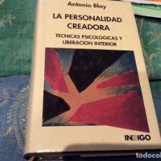 Libros de segunda mano: LA PERSONALIDAD CREADORA ANTONIO BLAY . Lote 105625191