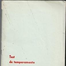Libros de segunda mano: TEST DE TEMPERAMENTO Y CARÁCTER Y SÍNTESIS DE CARACTEROLOGÍA, PAUL GRIEGER. Lote 107664707