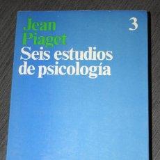 Libros de segunda mano: SEIS ESTUDIOS DE PSICOLOGIA.JEAN PIAGET.ARIEL.1990.INTELIGENCIA.LENGUAJE.PENSAMIENTO.PSICOLOGIA.. Lote 108399199