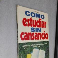 Libros de segunda mano: CÓMO ESTUDIAR SIN CANSANCIO / J. M. ZAINQUI / EDITORIAL DE VECCHI 1973. Lote 108461455