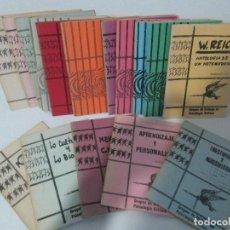 Libros de segunda mano: GRUPOS DE TRABAJO DE PSICOLOGIA CRITICA. CUADERNOS DE PSICOLOGIA. 16 LIBROS VER FOTOGRAFIAS. Lote 109182803