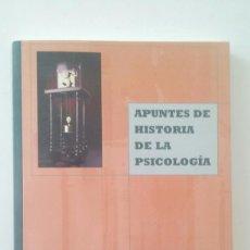 Libros de segunda mano: APUNTES DE HISTORIA DE LA PSICOLOGÍA - JUAN CARLOS PASTOR. Lote 110231867