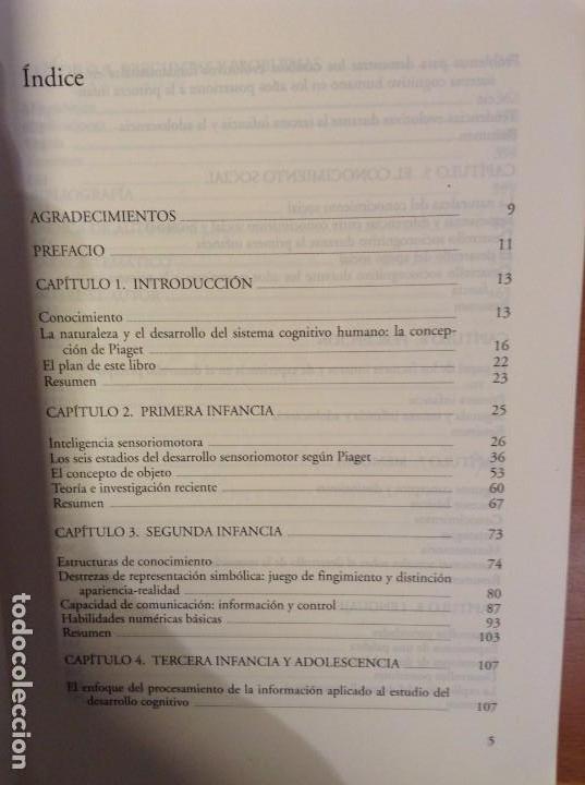 Libros de segunda mano: EL DESARROLLO COGNITIVO (NUEVA EDICION REVISADA) JOHN H. FLAVELL - Foto 4 - 110494851