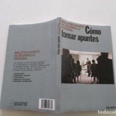 Libros de segunda mano: CÓMO TOMAR APUNTES. RMT85365. . Lote 110509995