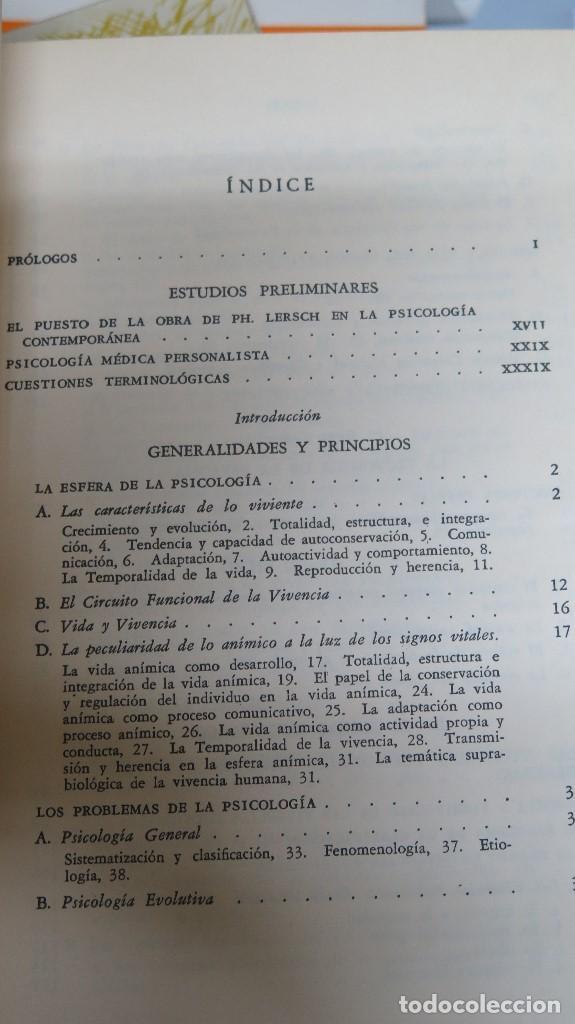 Libros de segunda mano: LA ESTRUCTURA DE LA PERSONALIDAD. LERSCH - Foto 2 - 112446327