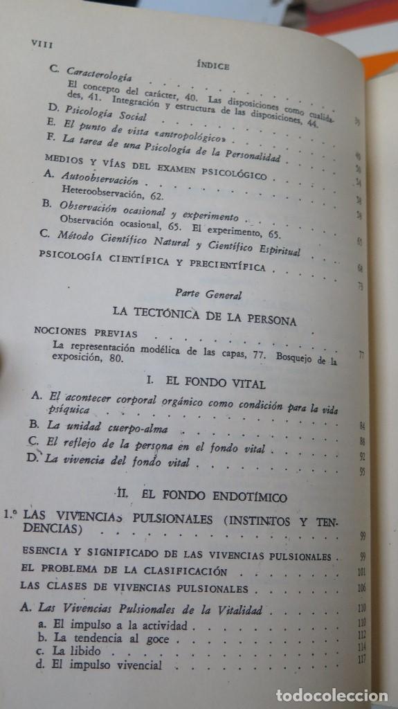 Libros de segunda mano: LA ESTRUCTURA DE LA PERSONALIDAD. LERSCH - Foto 3 - 112446327