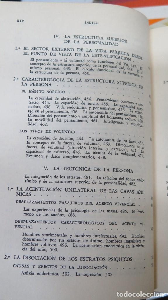 Libros de segunda mano: LA ESTRUCTURA DE LA PERSONALIDAD. LERSCH - Foto 9 - 112446327