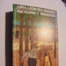 Libros de segunda mano: PSICOLOGIA PEDAGOGIA - LURIA LEONTIEV - AKAL 1979 - DE LIBRERIA JAMAS USADO !! - ENVIO GRATIS. Lote 113126223