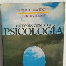 Libros de segunda mano: INTRODUCCIÓN A LA PSICOLOGÍA LINDA L. DAVIDOFF MCGRAW HILL. Lote 114065807