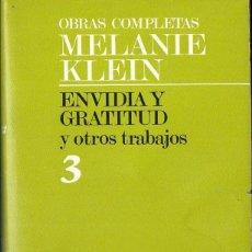 Libros de segunda mano: MELANIE KLEIN : ENVIDIA Y GRATITUD Y OTROS TRABAJOS (PAIDÓS, 1988). Lote 150315993