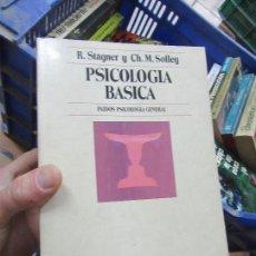 Libros de segunda mano: LIBRO PSICOLOGÍA BÁSICA R. STAGNER Y CH. M. SOLLEY 1980 PAIDOS L-11649-806. Lote 114469019