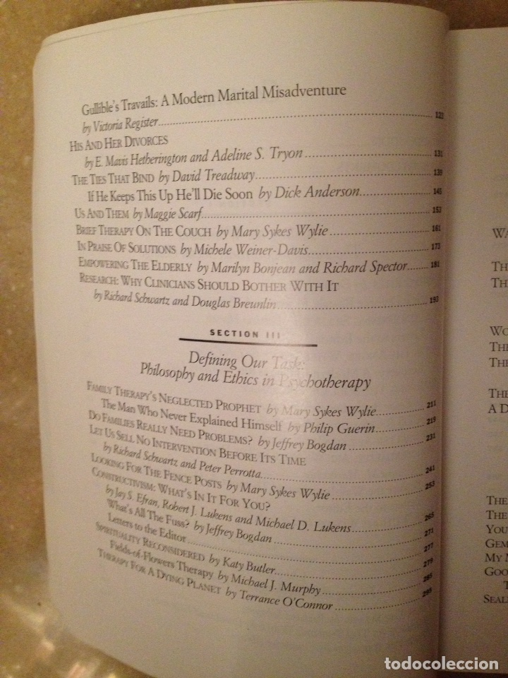 Libros de segunda mano: The evolving therapist (Simon / Barrilleaux / Wylie / Markowitz) - Foto 5 - 114487135