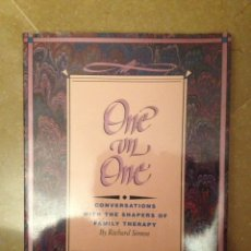 Libros de segunda mano: ONE ON ONE. CONVERSATIONS WITH THE SHAPERS OF FAMILY THERAPY ( R. SIMON). Lote 114487335