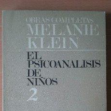 Libros de segunda mano: OBRAS COMPLETAS MELANIE KLEIN. EL PSICOANALISIS DE NIÑOS. 2. PAIDÓS.. Lote 115308923
