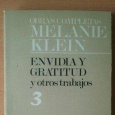 Libros de segunda mano: OBRAS COMPLETAS MELANIE KLEIN. ENVIDIA Y GRATITUD Y OTROS TRABAJOS. PAIDÓS.. Lote 115309207