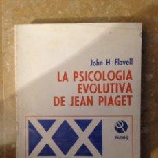 Libros de segunda mano: LA PSICOLOGÍA EVOLUTIVA DE JEAN PIAGET (JOHN H. FLAVELL) PAIDOS. Lote 115417674